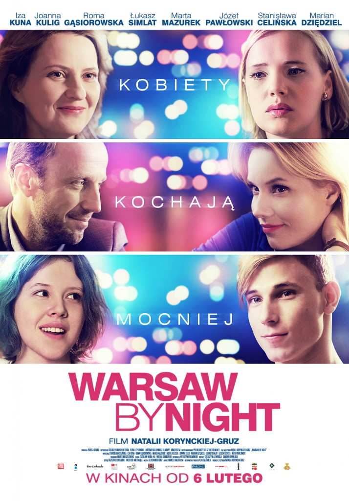 Warsaw by night plakat